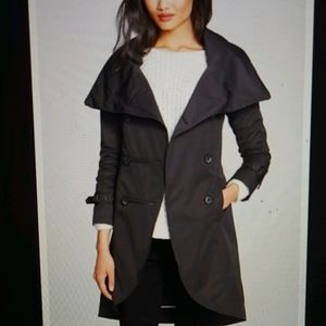 Mackage Malka Double Breasted Black Trench Coat
